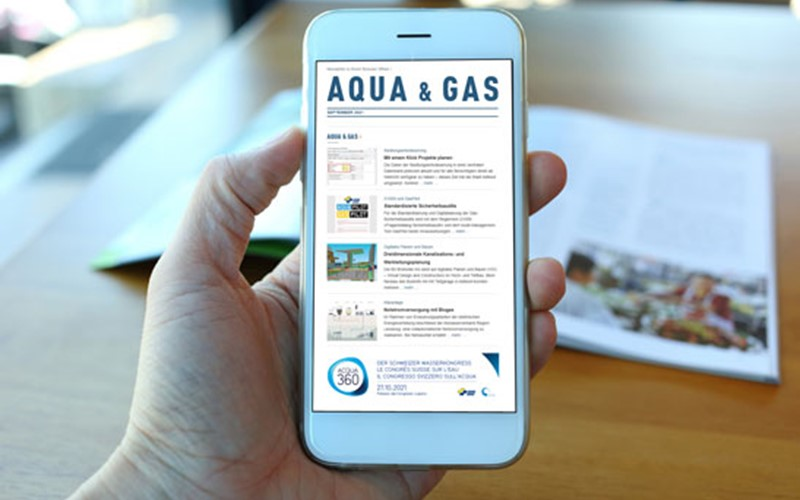 Neue «Aqua & Gas»-Newsletter